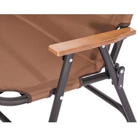 CAMPZ Silla Plegable Aluminio Doble, marrón/negro